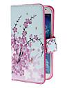 caz elegant de flori cu suport și slot pentru card de i9500 Samsung Galaxy s4