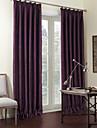 deux panneaux solides purple rideaux de luxe de rideaux occultants