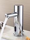 Waschbecken Wasserhahn Chrom-Finish zeitgenoessische Design Messing Wasserhahn mit automatischer Sensor (warm und kalt)