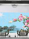 90x60cm Paysage modele resistant a l\'huile impermeable a l\'eau sticker mural de cuisine