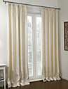 Neoclassical Two Panels Floral  Botanical Beige Bedroom Polyester Blackout Curtains Drapes