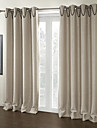 TWOPAGES® Two Panels  Embossed Solid Room Darkening Curtain