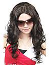 Capless högkvalitativa syntetiska Long Curly Black Fashion Peruker