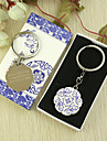 Personalized Floral Keyring Favor in Gift Box (Set of 6)