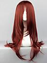 Cosplay Peruker Naruto Karin Röd Medium Animé Cosplay Peruker 65 CM Värmebeständigt Fiber Kvinna