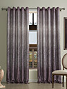 (Two Panels)Casual Chenille Print Energy Saving Curtain
