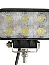 18W 6 LED Rectangle Lampe de travail