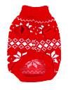 Hundar Tröjor Röd Hundkläder Vinter Snöflinga Jul / Nyår