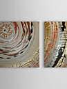 Hand Painted Oil Painting Abstract with Stretched Frame Set of 2 1309-AB0869