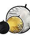 """32 """"2 en 1 argent dore disques 80cm Panneau reflecteur"""