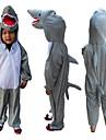 Kigurumi Pyjamas Shark Leotard/Onesie Halloween Animal Sovplagg Grå Lappverk Terylene Dräkter/Kostymer Barn Halloween