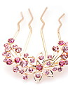 Women\'s Rhinestone / Alloy Headpiece-Casual Hair Pin Pink