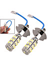 2 x Car H3 25 SMD LED White Koplamp Fog Light lampen