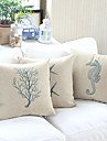twopages® coton / taie d'oreiller en lin de style balnéaire des Sables
