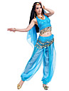 Belly Dance Outfits Women\'s Performance Chiffon Beading / Coins / Sequins 4 Pieces Sleeveless Pants / Hip Scarf / Headpieces / Top