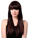 Capless Long Synthetic Brown Wavy Hair Wig Full Bang
