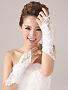 Elbow Length Fingerless Glove Elastic Satin Bridal Gloves / Party/ Evening Gloves Spring / Summer / Fall / Winter Black / Red / Ivory