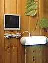 5 LED Interieur Exterieur LED a lumiere blanche solaire de jardin de panneau commutateur lampe Cabanon cour Lumiere