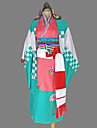 Inspirerad av Blue Exorcist Shiemi Moriyama Animé Cosplay Kostymer/Dräkter cosplay Suits / Kimono Geometriskt Blå Lång ärmKimono Kappa /