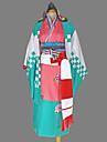 Inspire par Blue Exorcist Shiemi Moriyama Manga Costumes de Cosplay Costumes Cosplay Kimono Geometrique Manches LonguesYukata Casque