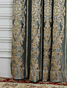 TWOPAGES® (Two Panels) Rococo Fancy Floral Jacquard Energy Saving Curtain