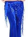 Belly Dance Hip Scarves Women\'s Training Chinlon Sequins / Tassel(s) 1 Piece Purple / Red / Royal Blue Belly DanceSpring, Fall, Winter,