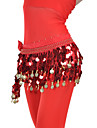 Dancewear Chiffon Belly Dance Belt With 88 Coins For Ladies(More Colors)