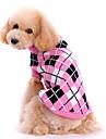 Hundar Tröjor Rosa Hundkläder Vinter Vår/Höst Pläd/Rutig Gulligt Håller värmen