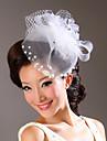 모조 진주 결혼식 투구와 직물 / 얇은 명주 그물 꽃