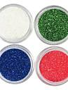 4 Färger Laser Glitter Akryl Pulver Set För 3D Nail Art No.5