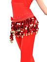 Belly Dance Belt Women\'s Training Chiffon Coins Orange / Red Belly Dance / Ballroom Spring, Fall, Winter, Summer 9.84inch(25cm)