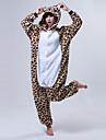 kigurumi Pyjamas Ours Collant/Combinaison Fete / Celebration Pyjamas Animale Halloween Cafe Beige Mosaique Toison de Corral Kigurumi Pour
