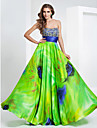 TS Couture® Prom / Formal Evening / Military Ball Dress - Floral Plus Size / Petite A-line / Princess Strapless / Sweetheart Floor-lengthStretch