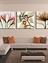 Intinsa Canvas Print Petal florale și Set frunze de 3