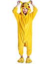 kigurumi Pyjamas Pika Pika Collant/Combinaison Fete / Celebration Pyjamas Animale Halloween Jaune Mosaique Flanelle Kigurumi Pour Enfant