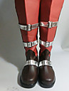 Bottes de Cosplay Final Fantasy Lightning Anime Chaussures de cosplay Noir / Rouge Cuir PU Feminin