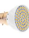 5W B22 LED-spotlights 60 SMD 3528 420 lm Varmvit AC 220-240 V