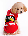 Dog Sweater Red Winter Cartoon