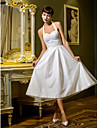 A-line/Princess Wedding Dress - Ivory Tea-length Halter Tulle