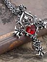 Bijoux Gothique Collier Victorien Rouge Dore Accessoires Lolita  Collier Mosaique Pour Hommes Femme Alliage Gemmes artificielles