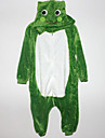 Kigurumi Pyjamas Groda Leotard/Onesie Halloween Animal Sovplagg Vit / Grön Lappverk Flanell Kigurumi Barn Halloween