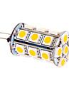 5W G4 Becuri LED Corn T 24 SMD 5050 370 lm Alb Cald DC 12 V