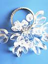 Crystal Clear Blomma Bröllop Servett Ring, akryl Dia 4,5 cm, Set med 12