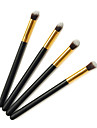 Pro de haute qualite 4 PC cheveux synthetique Golden Maquillage des yeux Brush