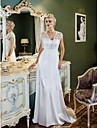 Lanting Bride® Tubinho Pequeno / Tamanhos Grandes Vestido de Noiva - Classico e atemporal / Glamouroso e Dramatico Inspiracao Vintage
