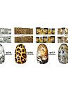 1x10PCS dierenhuid Leopard Sery Full-Cover Nail Stickers (verschillende patronen)