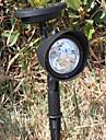 3 LED utomhus solkraft landskap spotlight LED gård trädgård Path gräsmatta Lampa (CIS-57231)
