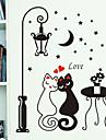 model noapte iubitorii de felinar pisica PVC tapet DIY