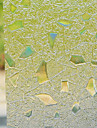 Modern Fancy Flockning Stones Mönster fönsterfilm
