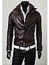 Shangdu Stand Casual Collar Jacket scurt (de cafea)